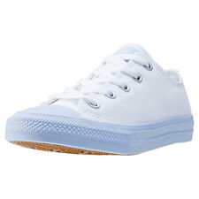 Converse Chuck Taylor All Star Ii Ox Kids Trainers White Blue Branded Footwear