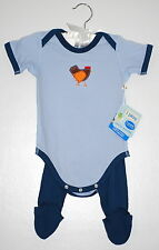 NWT iPlay Infant Boys Blue 100% Organic Cotton SS Two Piece Play Sets  size 3M