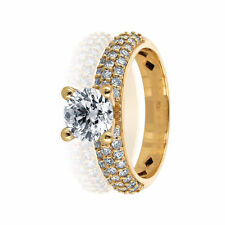 Diamond Engagement Ring Certified 1.62CT G VS2 14K Yellow Gold Size 6.5 Enhanced