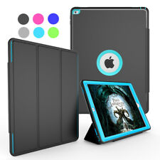 Luxury Rugged Flip Stand Wake Smart Screen Protector Case Cover For iPad 2 3 4