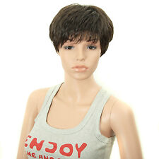 Saisity Synthetic Wigs Short Wigs Gray Wigs Black Cosplay Wigs Synthetic Hair