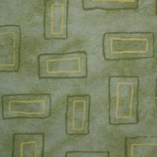 Quilt Fabric Cotton Calico Quilting FQ Light Green Geometric: 2/5 Yard