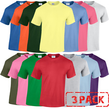 3 x Gildan MEN'S T-SHIRT COTTON PLAIN SUMMER TEE TSHIRTS S-5XL 3 PACK