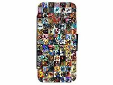 Marvel Comics Characters Leather Flip Phone Case Cover for iPhone & Samsung D4