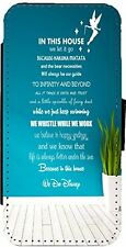 DISNEY QUOTE Leather Flip Phone Case Cover for iPhone & Samsung D1