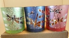 New For 2017 3 Piece Set of Flickering DragonFly Yankee Candle Votive Holders