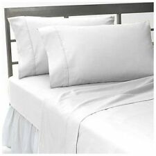 UK Single-Size 1200 TC 100%Egyptian Cotton All Bedding Item White Solid