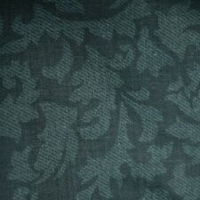 Quilt Fabric Cotton Calico Quilting FQ Teal Tonal Leaves by Cranston Fat Quarter