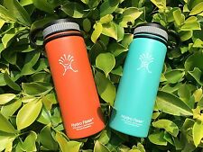 2pcs of 18oz Hydro Flask Insulated Stainless Steel Water Bottle, Wide Mouth