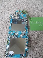 Vera Bradley Totally Turq Poppy Fields Two Way Mirror 2 Cosmetic- NWT! Retired!