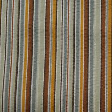 Quilt Fabric Cotton Calico Quilting FQ Green & Rust Striped by Richloom