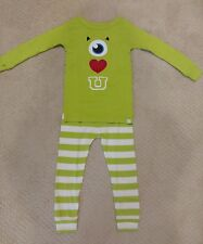 NWT Baby GAP Boys Disney Monster Inc. Mike 2pc Long Sleeve Pant Pajamas Size 2T