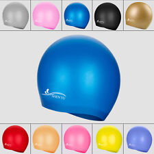 Kids/Adults Silicone Swimming Cap Swim Bathing Hat Elasticity Sports Waterproof