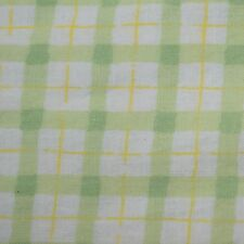Quilting Fabric Cotton Calico Quilt Green Summer Plaid: FQ & Cut-to-Order