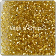 8/0 (2.9mm) Gold Silver Lined Czech Glass Seed Beads, 10g/25g, Bead Weaving