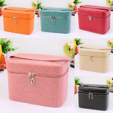 Fashion Beauty Make Up Nail Tech Cosmetic Box Jewellery Vanity Case Storage Bag