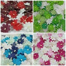 100 Artificial mulberry paper Flower Scrapbook Wedding Card Craft DIY Flowers