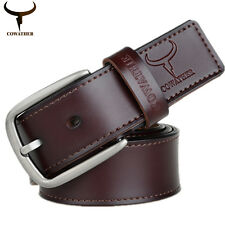 Men Elegant Fashion New Luxury Design Cow Genuine Leather Belts