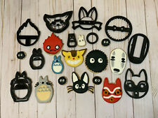 Studio Ghibli Mononoke, Spirited Away, Totoro, Kiki Howl's Cookie Cutters