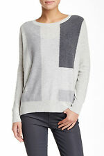 $365 NWT VINCE CASHMERE BOATNECK COLORBLOCK PULLOVER SZ S AND SZ L