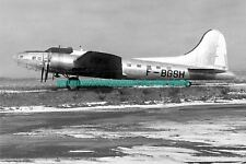 Boeing B-17G Shoo Shoo Shoo Baby Aircraft Black n White Photo Military USAF