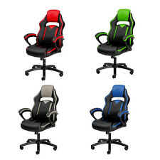 Merax PU Leather Office Gaming Chair Ergonomic Computer Desk Task Race Car Seat