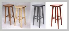 NEW SOLID & STURDY HARD BEECH WOOD BAR STOOLS WOODEN CHAIRS H:73cm MADE TO ORDER
