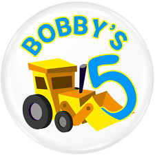 Truck Personalised Birthday Party Badge #409 - Kids Birthday Badges