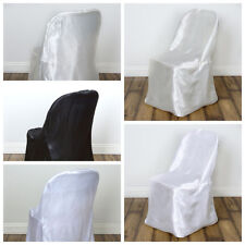 50 pcs Satin Folding CHAIR COVERS Wedding Catering Party SALE - FREE SHIPPING