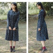 New Floral Printed Plus Size Full Sleeve Mid-calf Length Dress for Women