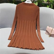 Women A Line Winter Autumn Fashion Knitted Mini Sweater Dress