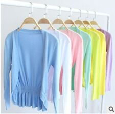 Ladies Cardigan Long Sleeve Candy Color Women Knitwear Solid Shrugs