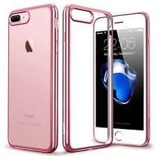 Luxury Ultra Thin Clear Plating TPU Soft Case Cover for Apple iPhone 7 6S 6 Plus