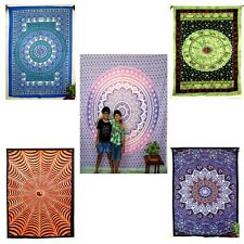 Indian Cotton Mandala Tapestry Wall Hanging Throw Vintage Bedspread Ethnic Decor