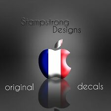 ( 4x ) Apple Logo France Flag Sticker Decal for iPhone 6s 6+ 6 plus 7 7+ French