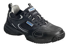 Nautilus Mens Steel Toe EH Athletic Black Leather Sneaker Shoes
