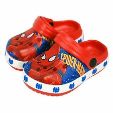 Marvel® Spider Man Boys Sandals Clogs Beach Shoes UK Sizes (18months to 9years)