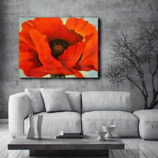 Red Poppy Flower O'keeffe Reproduction Canvas Art Poster Print
