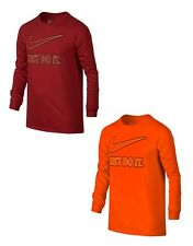 """Brand NEW - NIKE Boys' Long-Sleeve Graphic """"Just Do it"""" T-Shirt - Choose Size"""