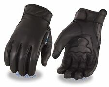 MEN'S MOTORCYCLE BUTTER SOFT LEATHER GLOVES WITH TECH SYSTEM, PALM GEL, LINED
