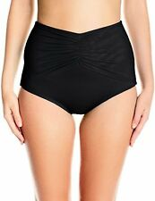 COCO REEF Women's Classic Solids Ruched High Waist Moderate Coverage Swimsuit
