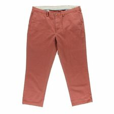 NWT RALPH LAUREN Chino Classic Fit Flat Front White Red 36/32 38/30 Pants $90