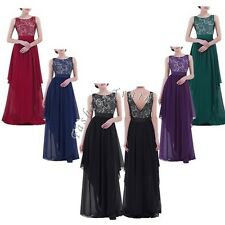 Plus Size Fashion Women Formal Wedding Party Cocktail Bridesmaid Ball Gown Dress