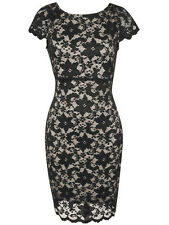 Rubber Ducky gorgeous full lace sexy body fit party mini cocktail dress BLK M,L