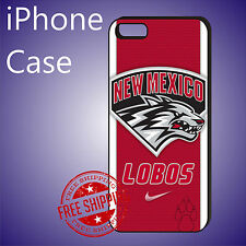 ED# New Mexico Lobos College Sports Case Cover iPhone 8 8+ 7+ 7 6s+ 6+ se 5c 5s
