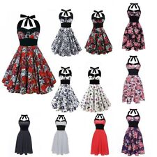 Skull Rose Rock Retro Style 50s 60s ROCKABILLY DRESS Housewife Pinup Party Dress