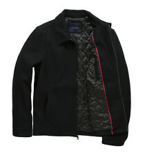 TOMMY HILFIGER NEW Mens Black Wool Blend Coat Jacket