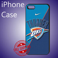 ED# OKC Oklahoma City Thunder Basketball Case Cover iPhone 8+ 7+ 6s+ 6+ se 5c 5s