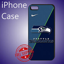 ED# NFL Seattle Seahawks Football New Case Cover iPhone 8 8+ 7+ 6s+ 6+ se 5c 5s