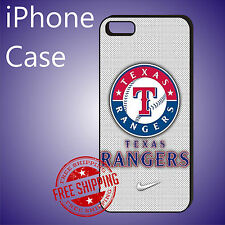ED# MLB Texas Rangers Baseball Case Cover For iPhone 8 8+ 7+ 7 6s+ 6+ se 5c 5s